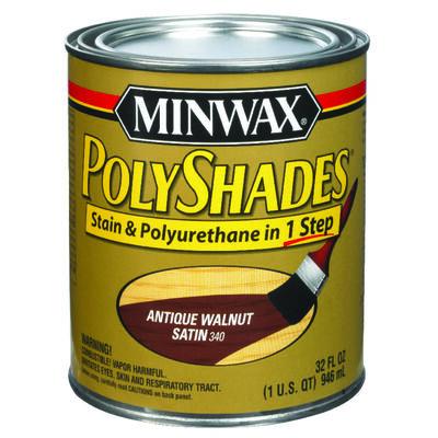 Minwax PolyShades Transparent Polyurethane Polyurethane Stain Antique Walnut 1 qt.