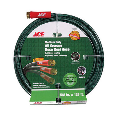 Ace All-Season 5/8 in. Dia. x 125 ft. L Garden Hose Kink Resistant