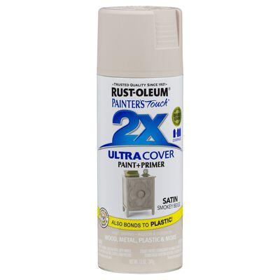 Rust-Oleum Painter's Touch 2X Smokey Beige Satin Spray Paint Plus Primer 12 oz.