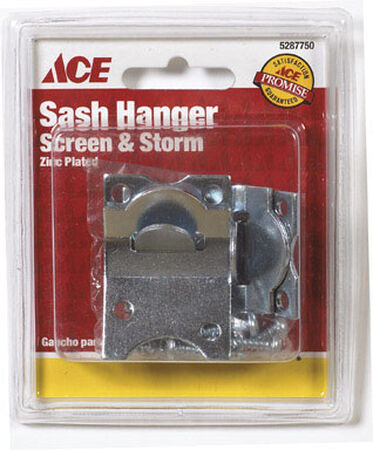 Ace Zinc Surface mount Screen/Storm Sash Hanger Silver 2 pk