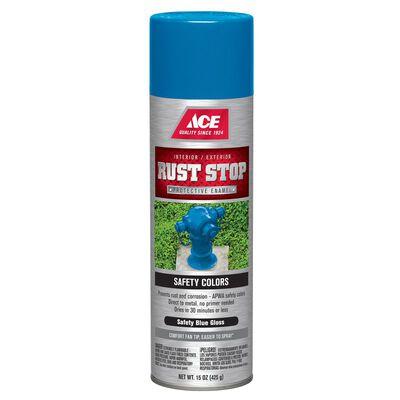 Ace Rust Stop Safety Blue Gloss Spray Paint 15 oz.