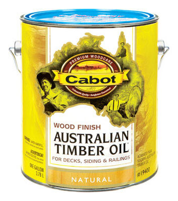 Cabot Wood Finish Transparent Oil-Modified Australian Timber Oil Natural 1 gal.