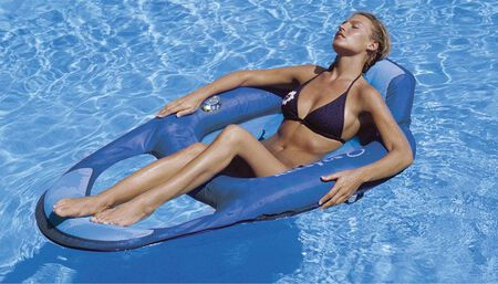 Swimways Blue Fabric/Mesh Floating Recliner