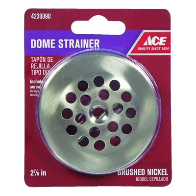 Ace 2-7/8 in. Brushed Nickel Dome Strainer