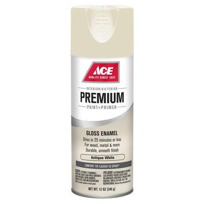 Ace Premium Antique White Gloss Enamel Spray Paint 12 oz.
