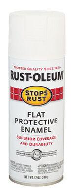 Rust-Oleum Stops Rust White Flat Protective Enamel Spray 12 oz.