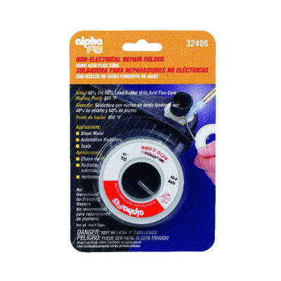 Alpha Fry 4 oz. For Plumbing Acid Core Solder 40% Tin 60% Lead Tin / Lead