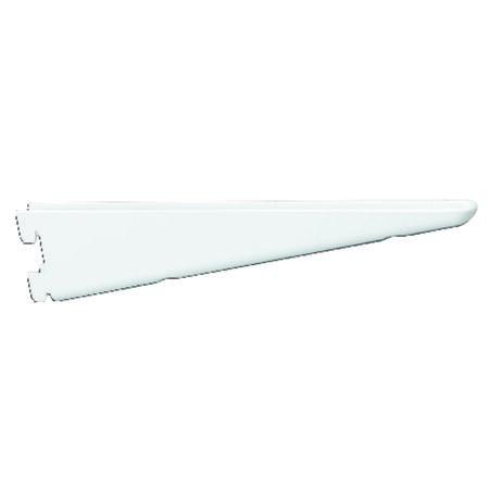 Knape & Vogt Steel White 16 Ga. 182 Series Twin Slot Standard Brackets 10-1/2 in. L