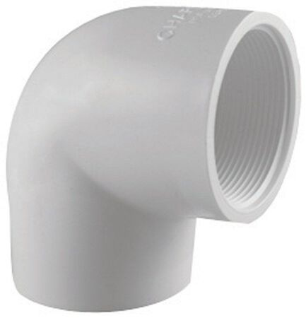Charlotte Pipe 1-1/2 in. Dia. x 1-1/2 in. Dia. Schedule 40 FPT To Slip 90 deg. PVC Elbow
