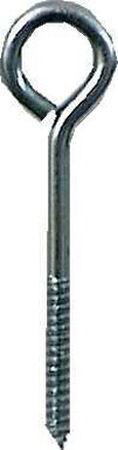 Hampton Zinc Plated Steel Lag Thread Eyebolt 5 in. L
