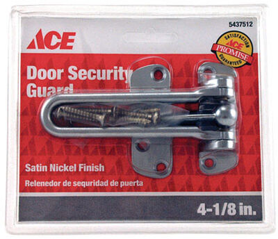 Ace Door Security Guard 4-1/8 in. Swingbar Satin Nickel