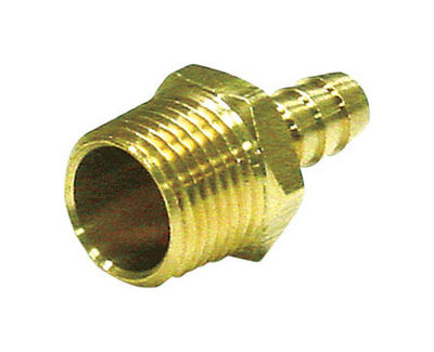 Ace Brass Hose Barb 1/4 in. Dia. x 1/4 in. Dia. Yellow 1 pk