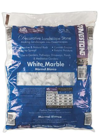 Pavestone White Decorative Stone Marble Chips 0.5 cu. ft.