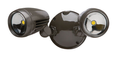 Heathco Floodlight Metal Bronze Dusk to Dawn LED