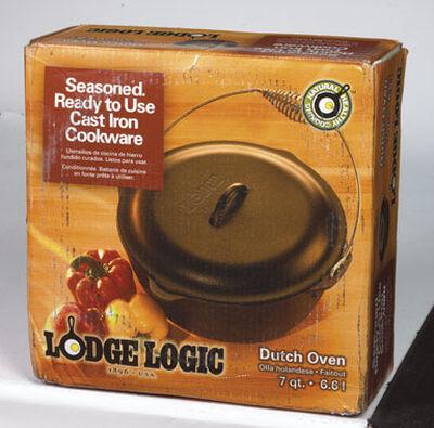 Lodge Logic Cast Iron Dutch Oven 5 Black 10.25 in. L 5