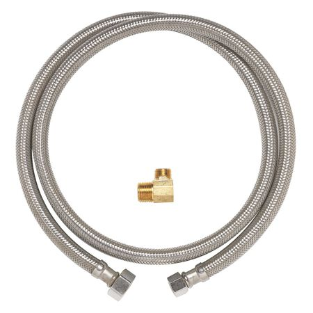 Ace 3/8 in. Compression x 3/8 in. Dia. MIP Stainless Steel 60 in. Supply Line