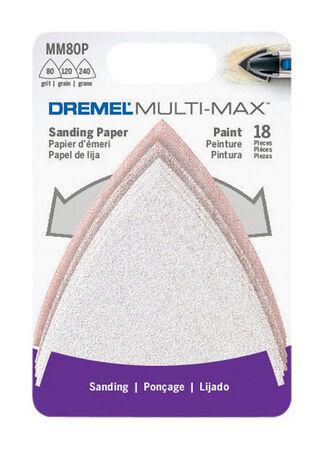 Dremel Multi-Max Sandpaper Sandpaper For 80 120 240 grit For Paint 18 pk