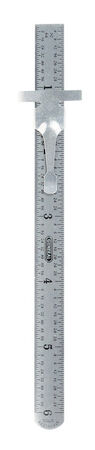 General Tools Precision Rule 6 in. L x 1/2 in. W