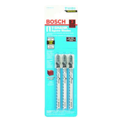 Bosch Metal T-Shank 4 in. L Jig Saw Blade 10 TPI 3 pk