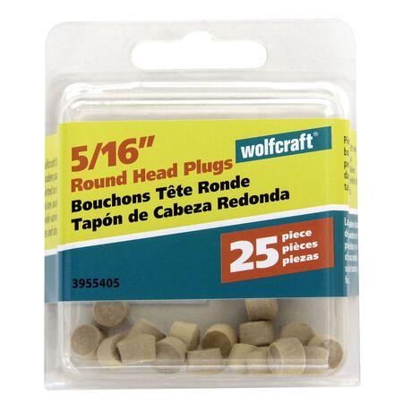 Wolfcraft Round Hardwood Head Plug 5/16 in. Dia.