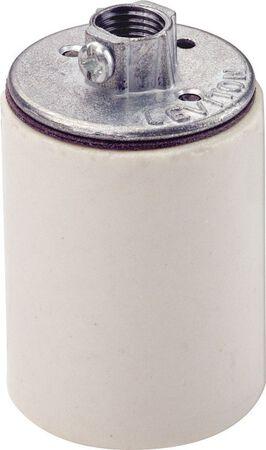 Leviton 660 watts 250 volts Keyless Lampholder White