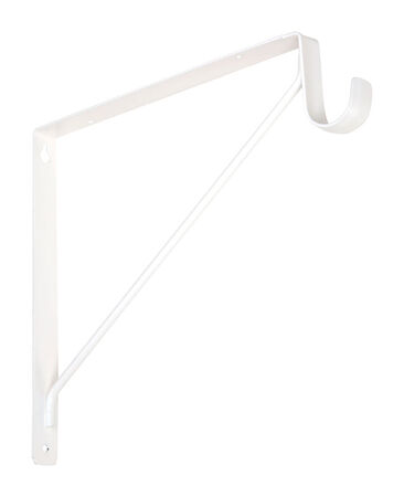 "National Hardware 10-7/8"" Shelf and Rod Bracket Steel White"