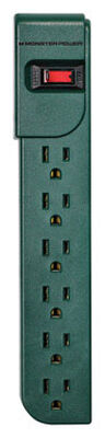Monster Just Power It Up 3 ft. L 6 outlets Power Strip Green