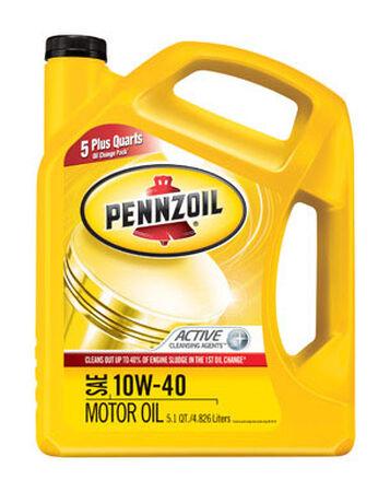 Pennzoil SAE 10W40 Motor Oil 5.1 qt.