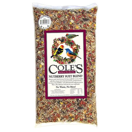 Cole's Assorted Species Nutberry Suet Blend Wild Bird Seed Sunflower Seed Meats 10 lb.