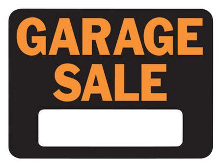 Hy-Ko English 9 in. H x 12 in. W Plastic Sign Garage Sale