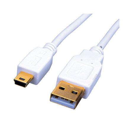 Monster 6 ft. L White USB 2.0 Mini Device Cable