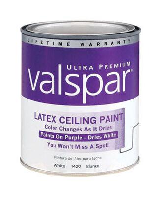Valspar Flat Ceiling Paint Latex 1 qt. Ceiling White (Disappearing Purple)