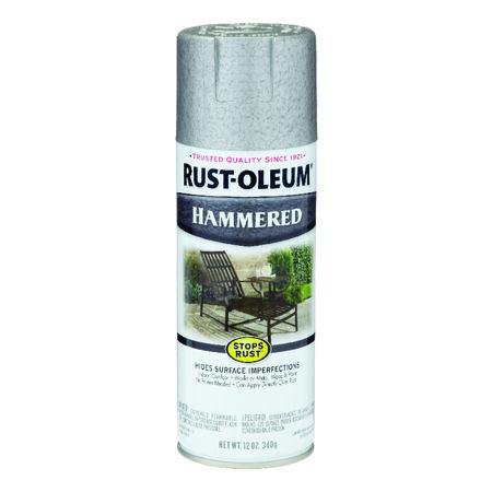 Rust-Oleum Stops Rust Silver Gloss Hammered Spray 12 oz.