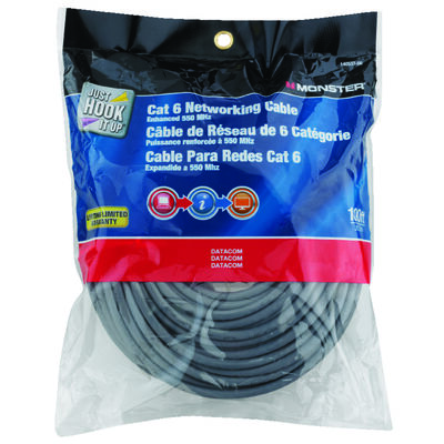 Monster Gray 100 ft. L Networking Cable