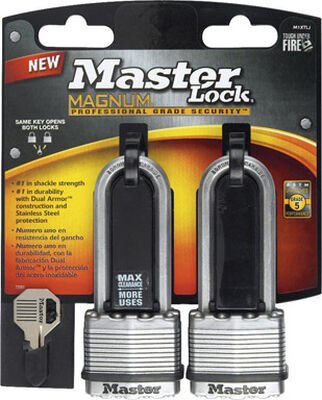 Master Lock 1-3/4 in. Keyed Alike Dual Ball Bearing Locking Laminated Steel Padlock