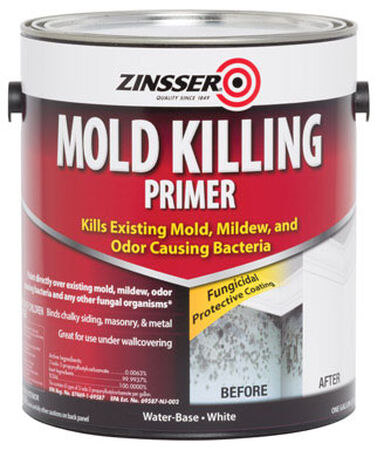 Zinsser Water-Based Interior and Exterior Mold Killing Primer 1 gal. White