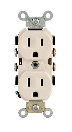 Leviton Electrical Receptacle 15 amps 5-15R 125 volts Light Almond