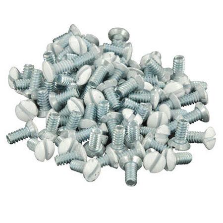 Leviton White Metal Wall Plate Screws 20 pk